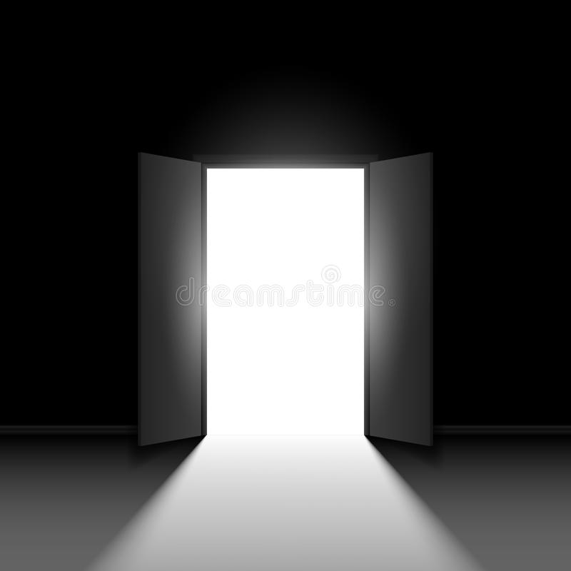 Double open door stock illustration
