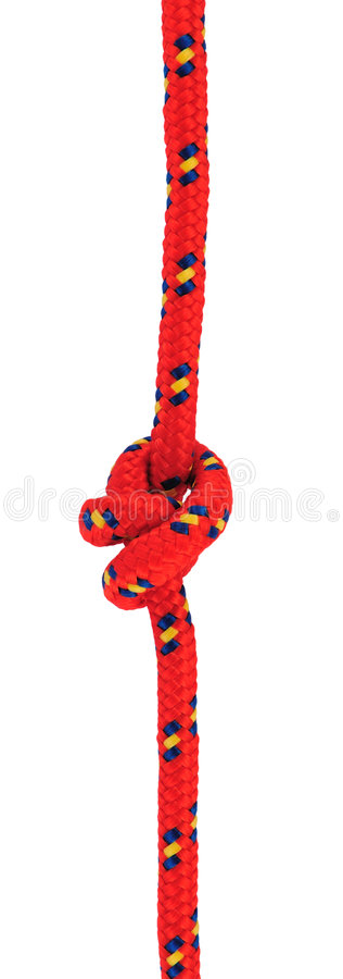 Double overhand knot royalty free stock image
