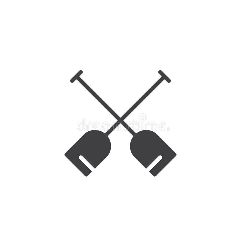 Double paddle vector icon. Filled flat sign for mobile concept and web design. Boat oars simple solid icon. Symbol, logo illustration. Pixel perfect vector vector illustration