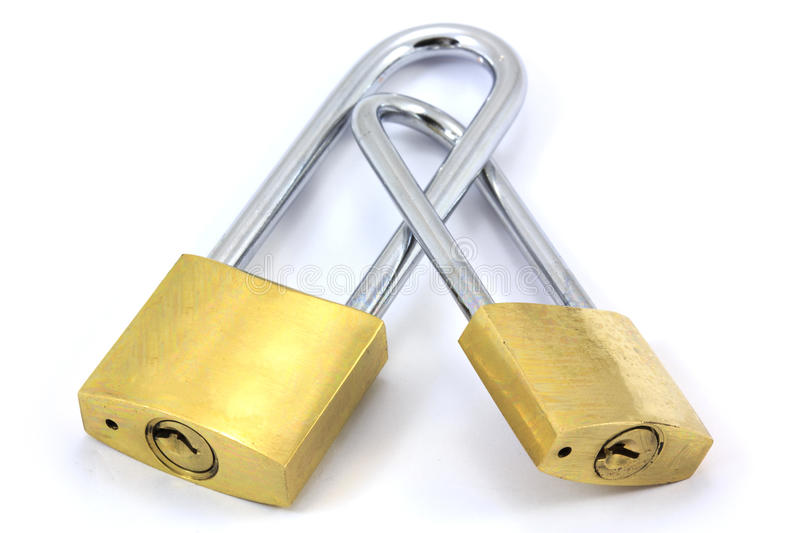 Double Padlocks stock image