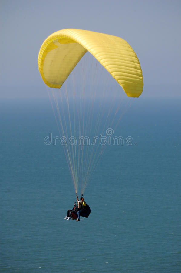Double Paragliding royalty free stock photo