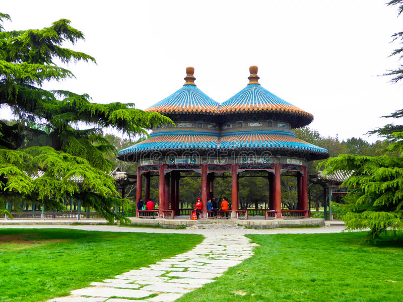 Double pavillon de Wanshou de boucle photographie stock libre de droits