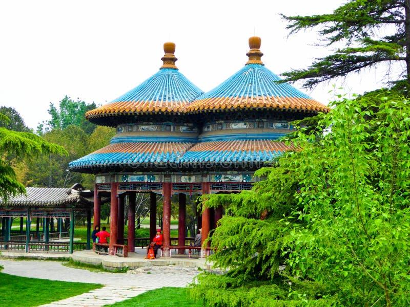 Double pavillon de Wanshou de boucle image stock