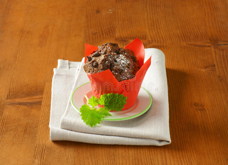 Double petit gâteau de chocolat photos stock