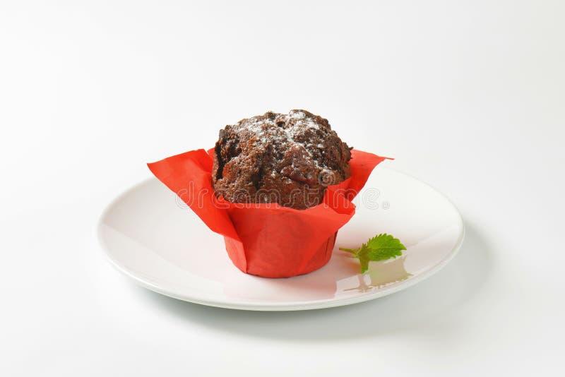 Double petit gâteau de chocolat photos libres de droits