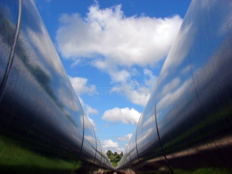 Double pipeline royalty free stock photo