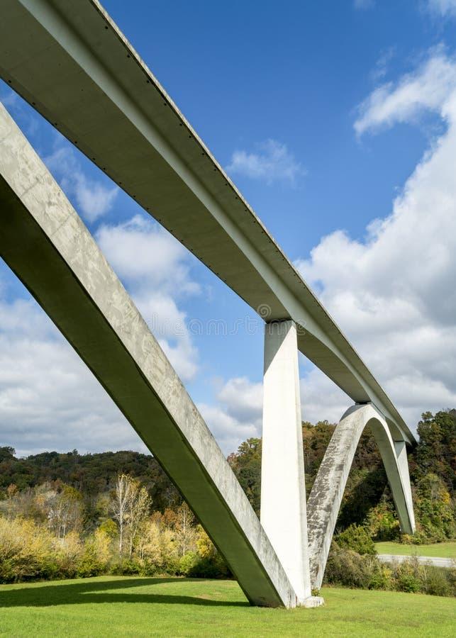Double pont de voûte chez Natchez Trace Parkway photographie stock libre de droits