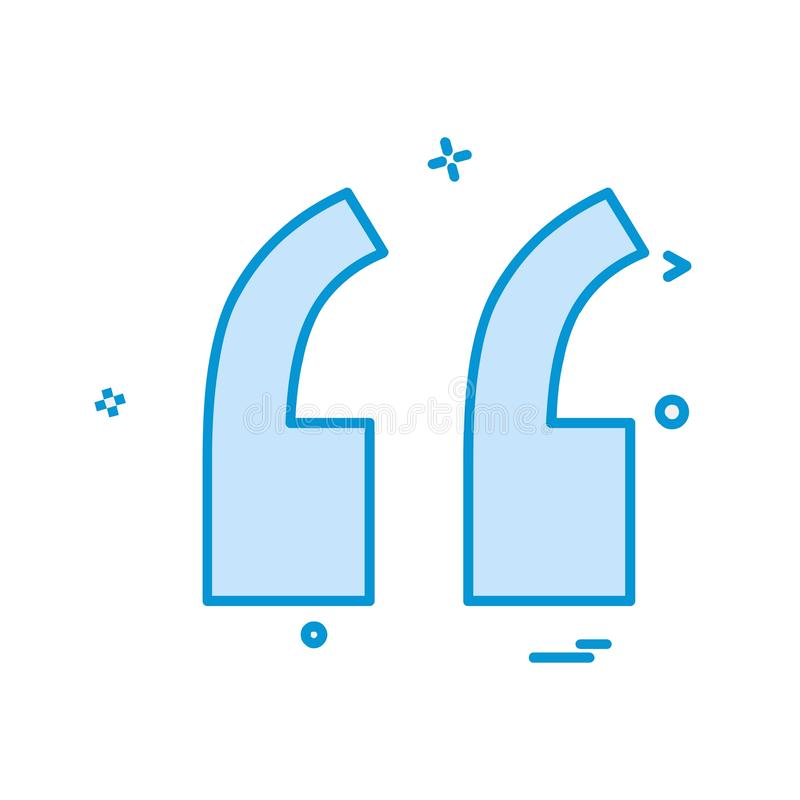 Double quotes icon design vector. This Vector EPS 10 illustration is best for print media, web design, application design user interface and infographics with vector illustration