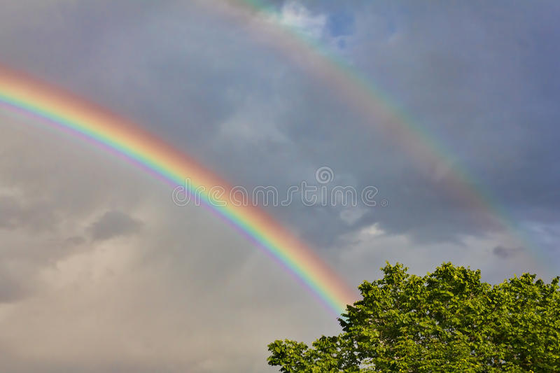 Download Double Rainbow stock photo. Image of vivid, spectral - 20771276