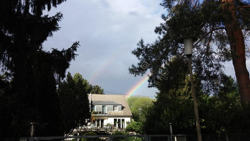 Double rainbow royalty free stock photography
