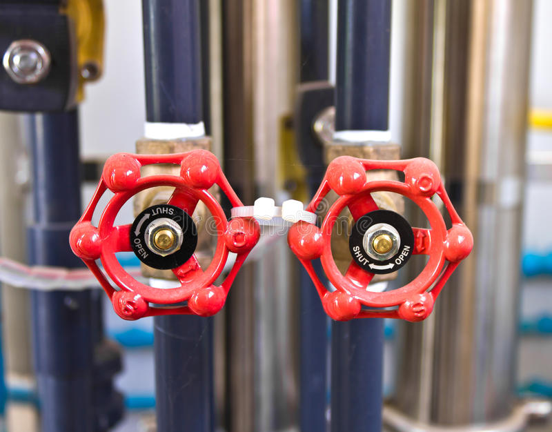 Double red valves royalty free stock images