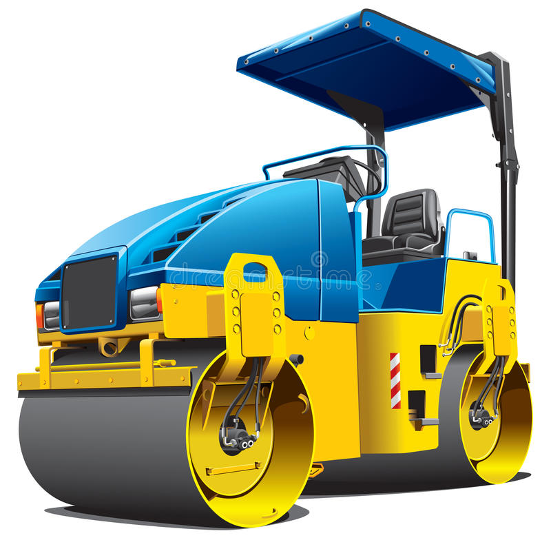 Double road roller stock illustration