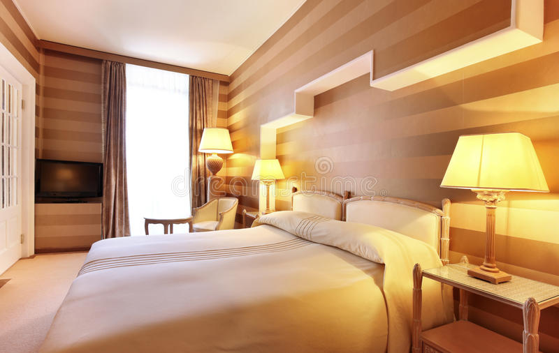 Double room luxury hotel royalty free stock image