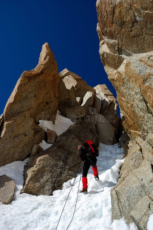 Download Double rope climber stock photo. Image of alone, mount - 2305564