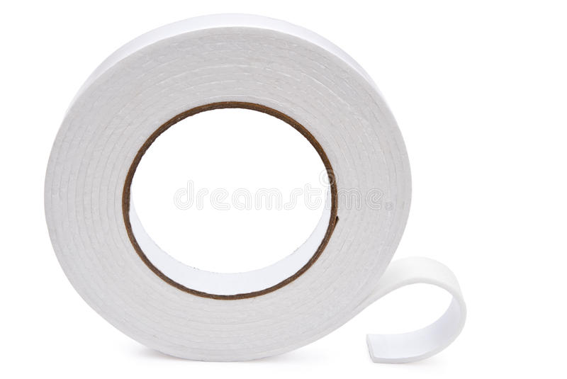 Double side adhesive tape. With clipping path royalty free stock images