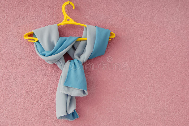 Double-sided silk scarf stock image