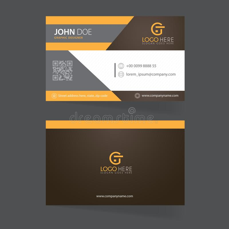 Double sides business card template vector royalty free illustration