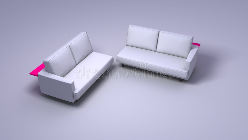 Download Double sofas stock photo. Image of love, chesterfield - 1522908