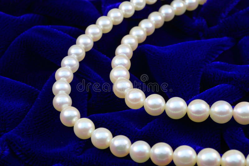 Double Strand Of Pearls Stock Photo