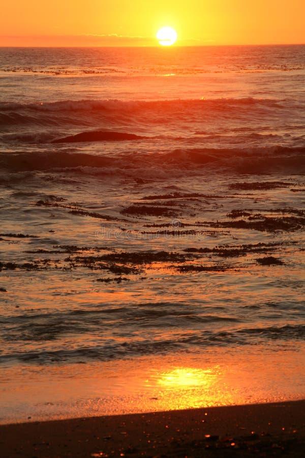 double sunset stock image
