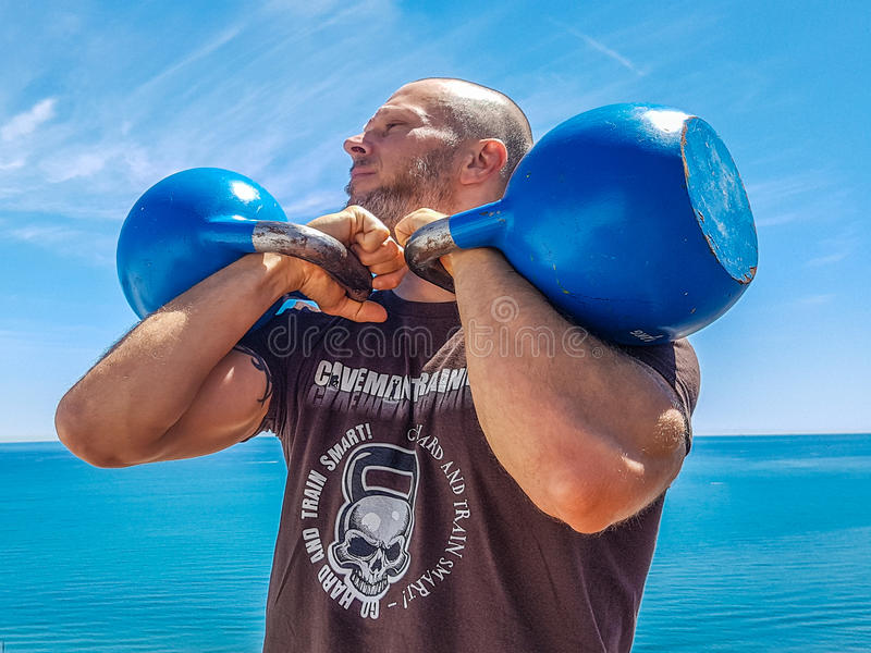 Double support incorrect de Kettlebell images stock