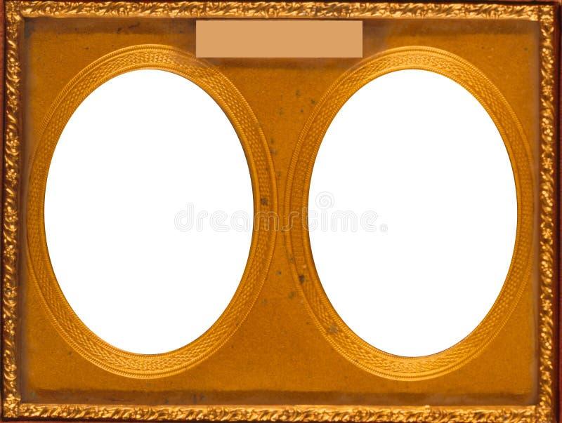Double cadre ovale photos libres de droits