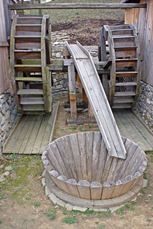 Download Double watermill stock photo. Image of watermill, wood - 14423072