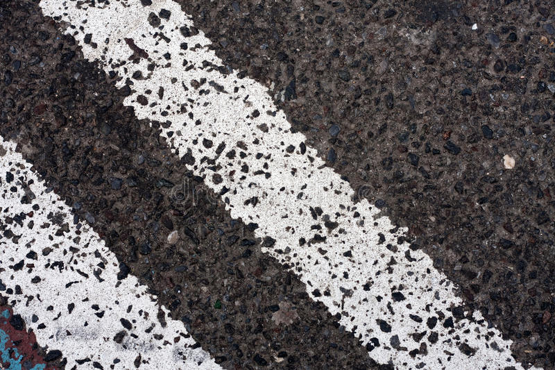 Double White Lines on the Road