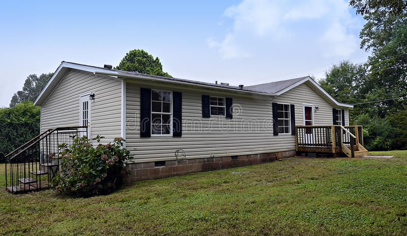 Double Wide Mobile Home royalty free stock photos