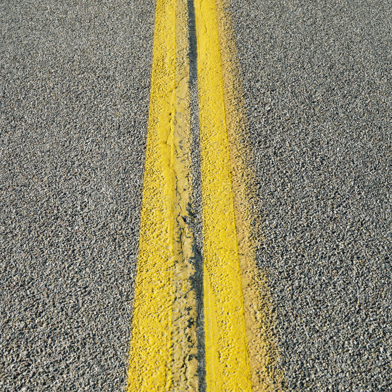 Download Double yellow line stock image. Image of yellow, square - 2046359