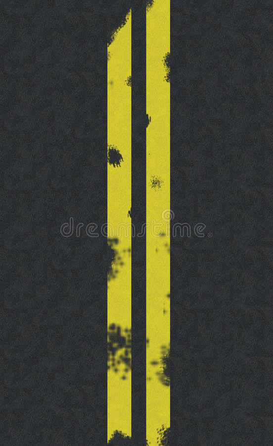Download Double Yellow Line Road Background Stock Illustration - Illustration: 3746967