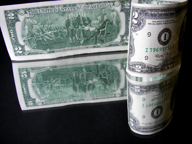 Doubles dollars images libres de droits