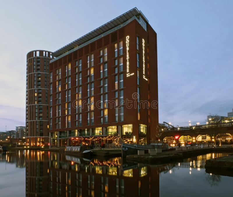 Canal Place Apartments: The Granary Wharf Area In Leeds With An Old Crane And