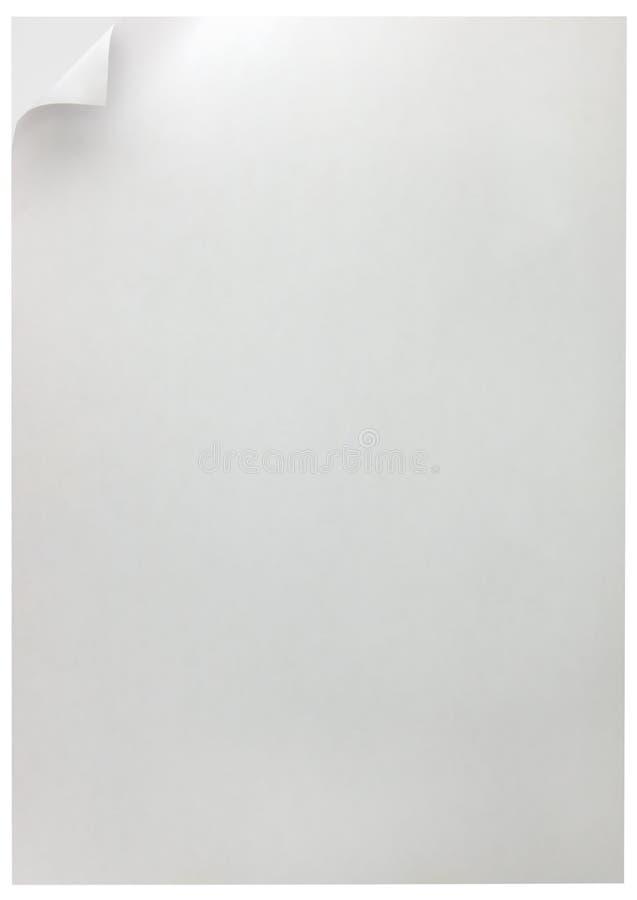 DoubleWhite Seiten-Rotation-Hintergrund getrennt auf Weiß stock abbildung