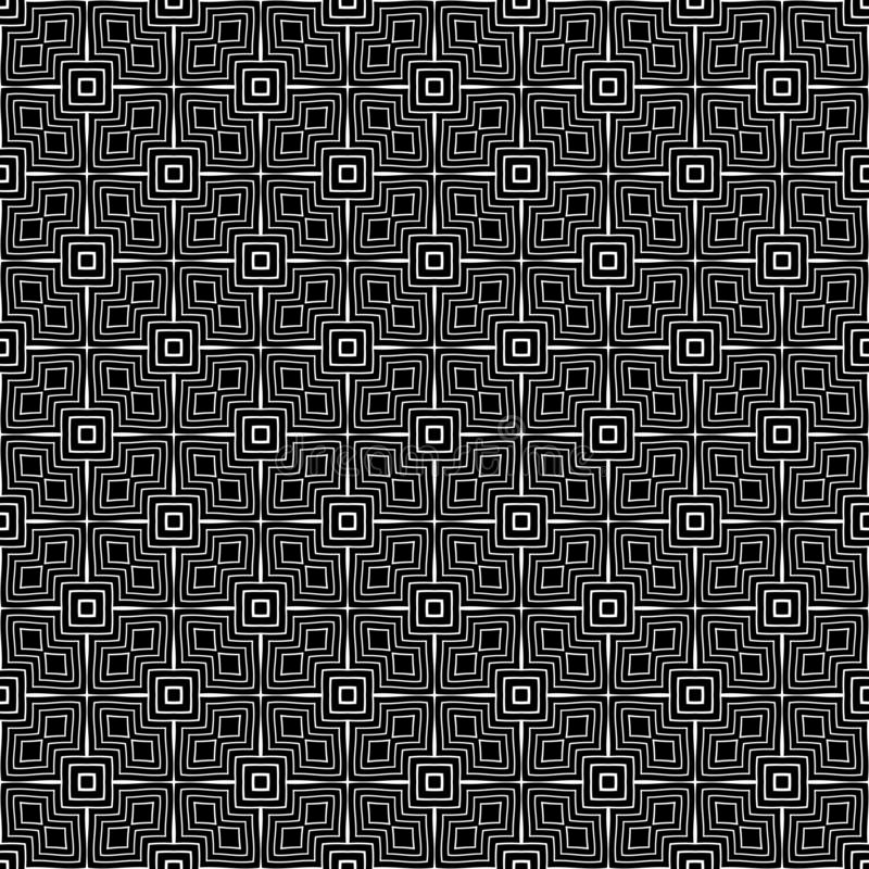 Doublure géométrique de modèle sans couture noir et blanc Fond, places illustration libre de droits
