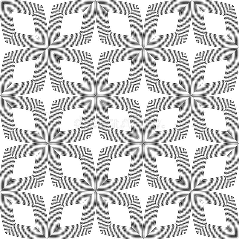 Doublure géométrique de modèle sans couture noir et blanc Fond, places illustration de vecteur