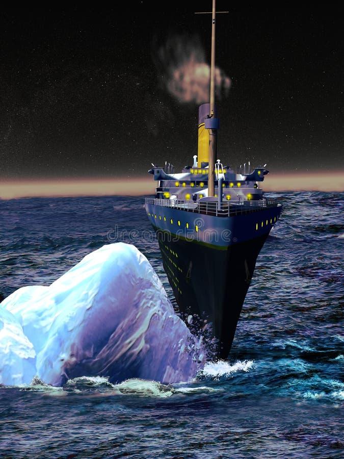Doublure titanique dans le moment mortel illustration stock