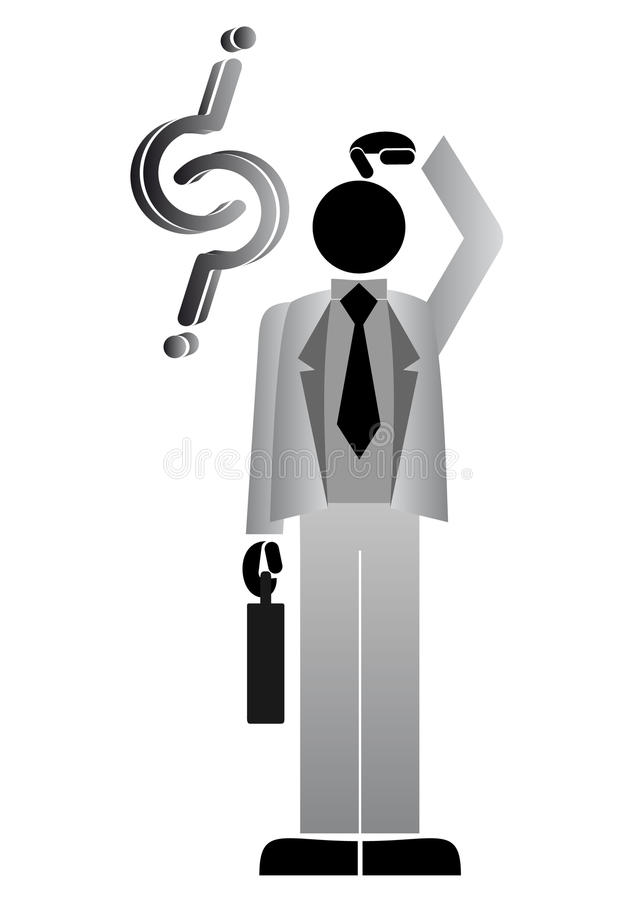 Download Doubt stock vector. Image of consultant, lost, briefcase - 18959022