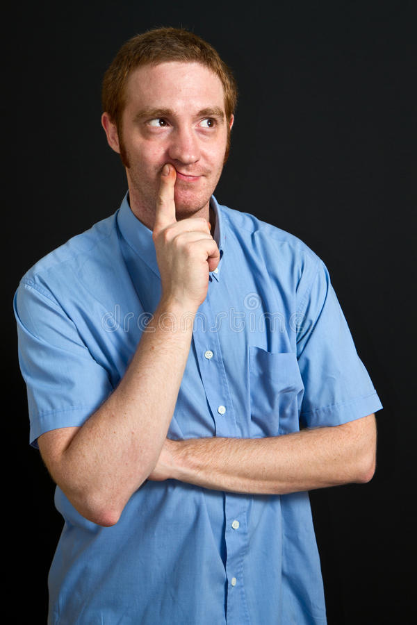 Doubting man stock photography