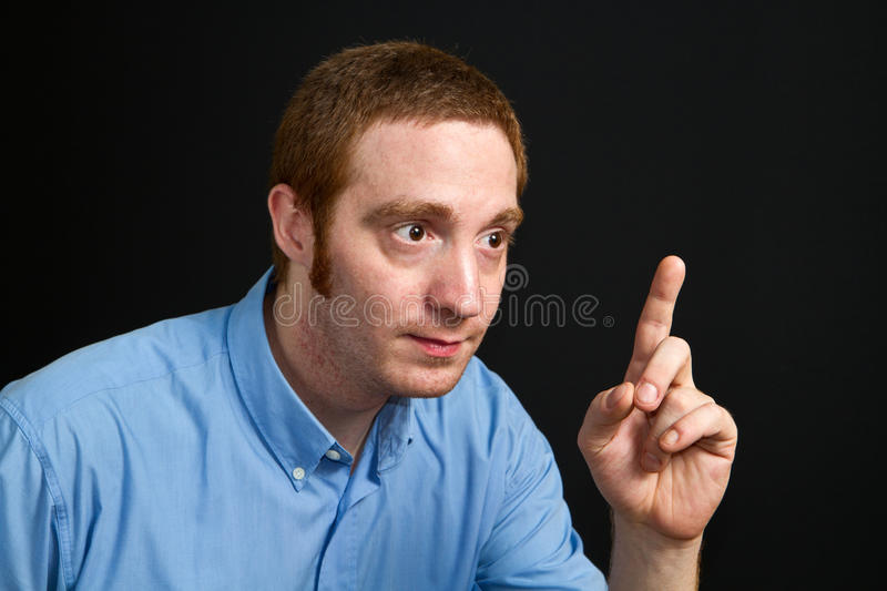 Doubting man stock photos