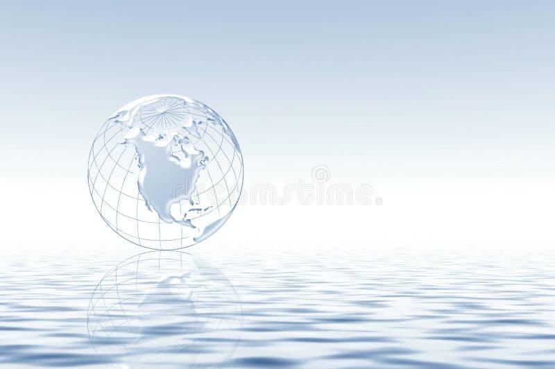Doucement abstrait avec la planète illustration libre de droits