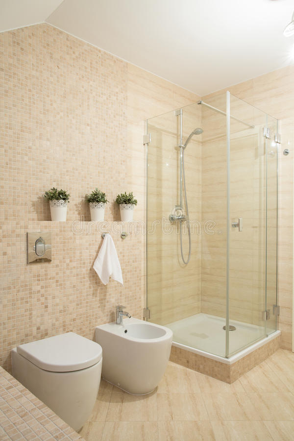 Douche avec la trappe en verre photos libres de droits