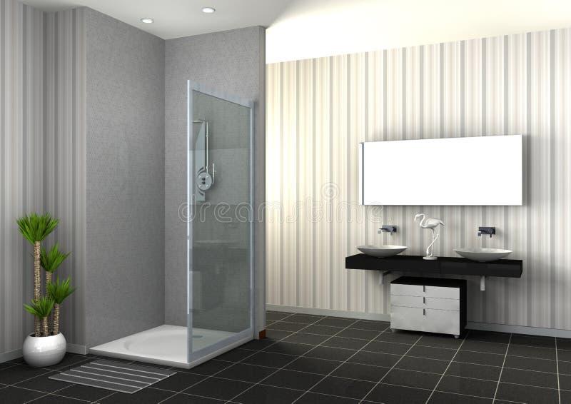 douche de plain pied illustration stock illustration du illustration 34969536. Black Bedroom Furniture Sets. Home Design Ideas
