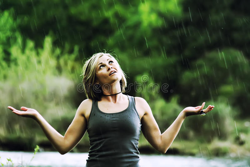 Douche de pluie images libres de droits