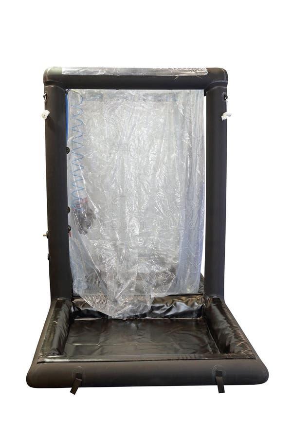 Douche gonflable de décontamination photo libre de droits