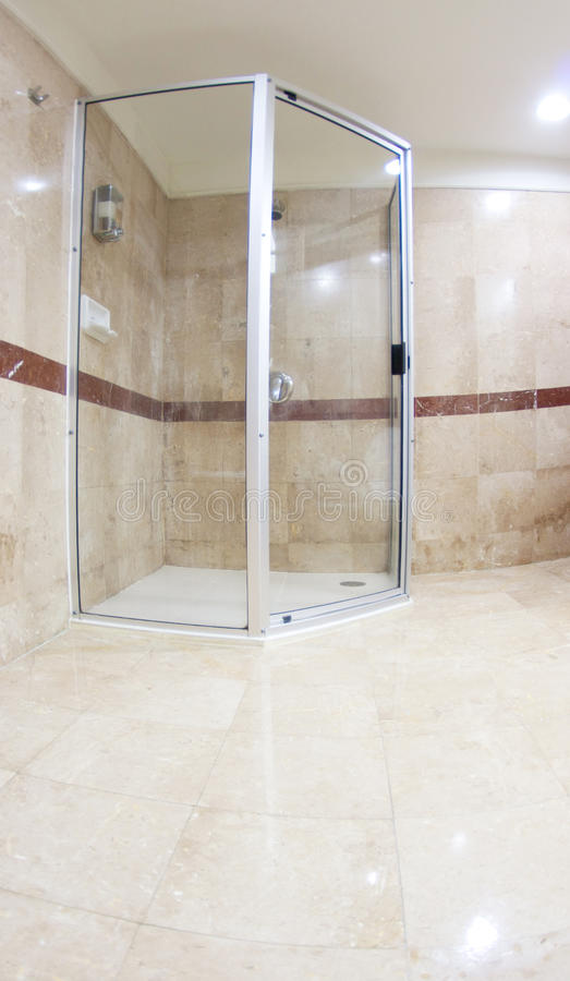 Douche moderne photographie stock