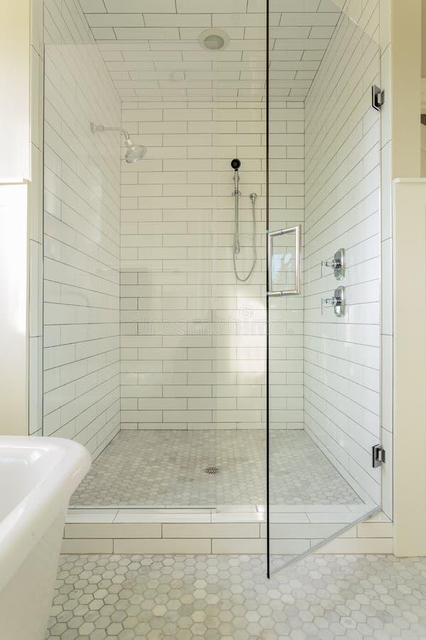 Douche principale de salle de bains photo libre de droits