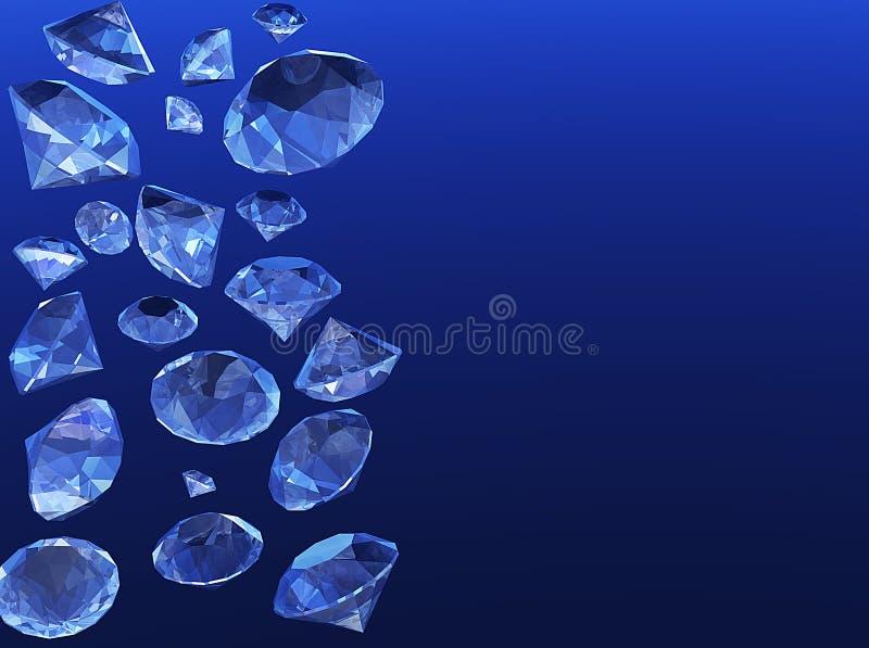 Douche van diamanten stock illustratie
