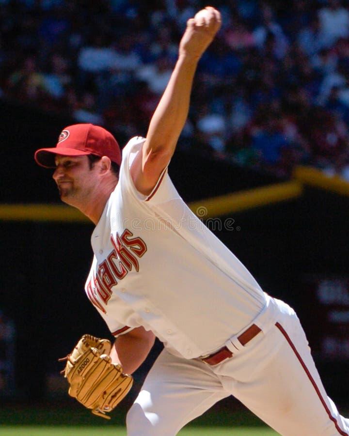 Doug Davis. Arizona Diamondbacks pitcher Doug Davis. (Image from a color slide royalty free stock image