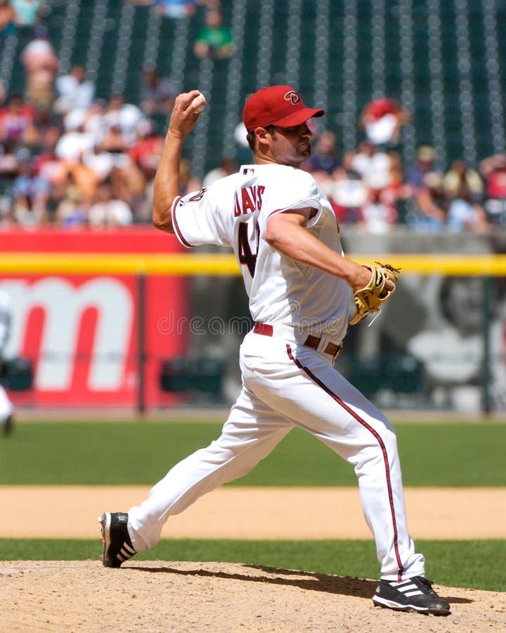 Doug Davis. Arizona Diamondbacks pitcher Doug Davis. (Image from a color slide royalty free stock photography